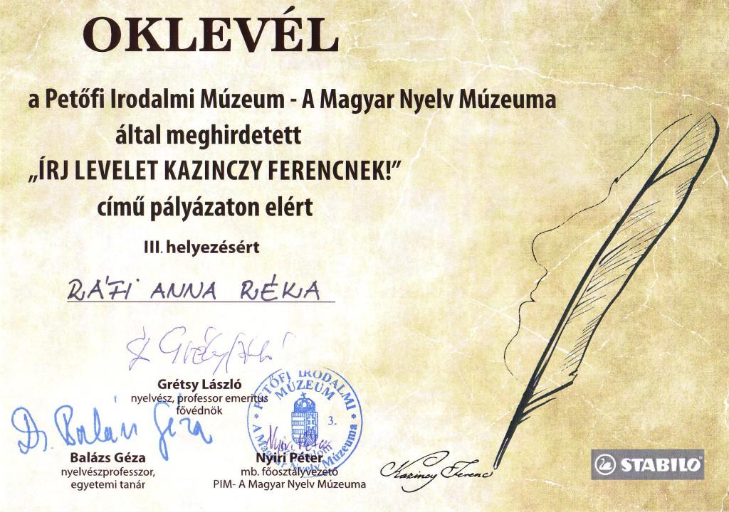 Másolat - Kazinczy - Ráfi Anna
